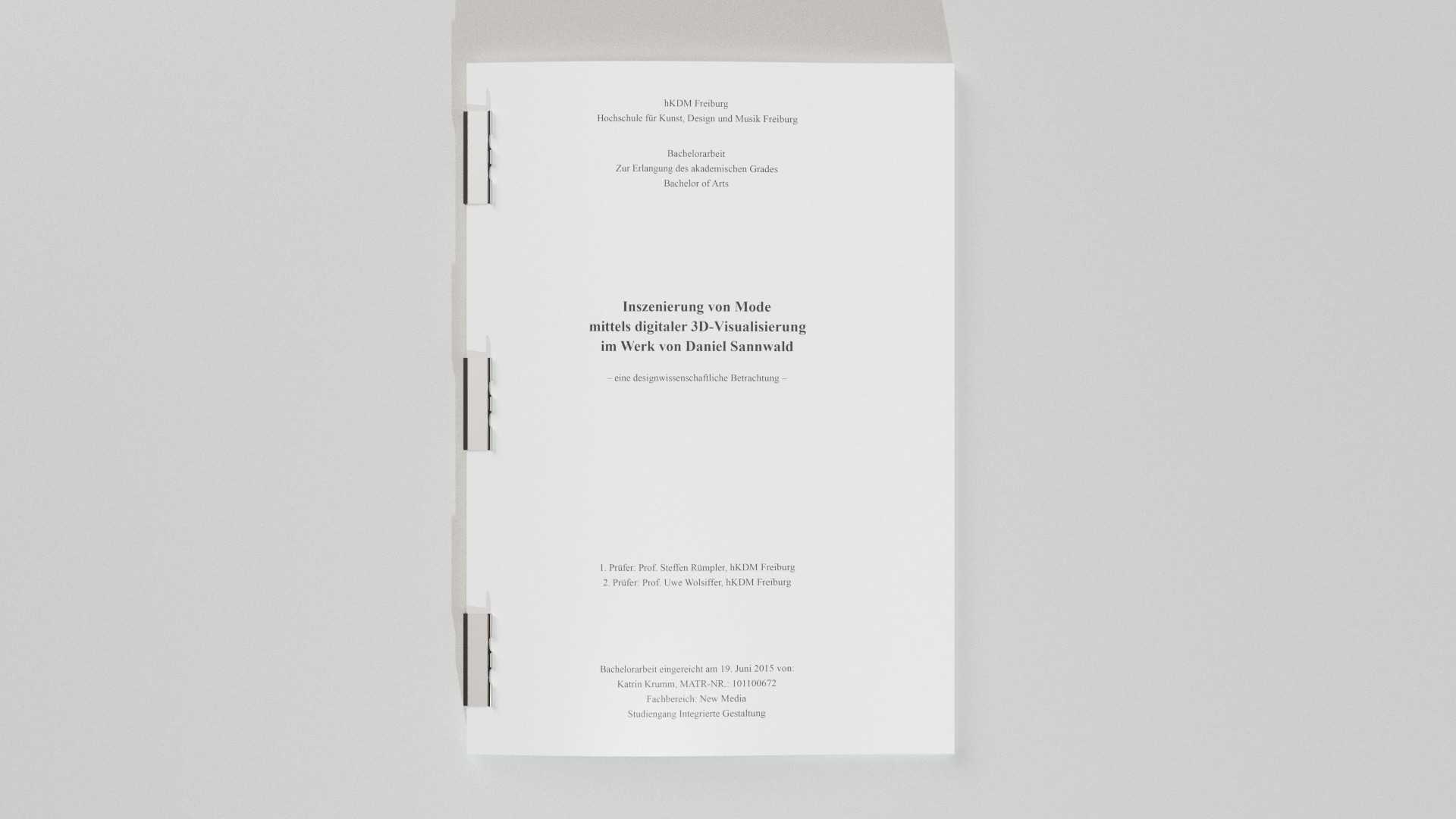 Ghostwriter Dissertation  Master Thesis  Bachelor Thesis Patrick B  hm   Master of Arts Architektur
